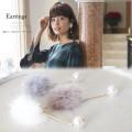 揺れパール付ファーイヤリング 【earrings】 A Wonderful Time カタログ 垣内彩未さんはホワイトを使用