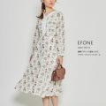 新鮮デザインで差をつけて。フラワープリントワンピース【efone エフォン】tocco closet(トッコクローゼット) Collection