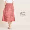 エアリーなスタイルが叶うフラワープリントマジョリカプリーツスカート【enchie エンシー】tocco closet(トッコクローゼット) Collection