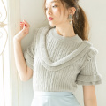 【Lily Lulu】Frill Cable KnitFrill Cable Knit