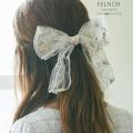 フラワー刺繍リボンヘアゴム【felnor フェルノー】 tocco closet(トッコクローゼット)
