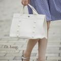 ぷっくりパールつきフェイクレザートートバッグ 【flt-bag 】 tocco closet(トッコクローゼット) Collection