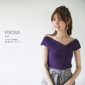 うっとりしなやかな色っぽクロスリブニット【focole フォーコル】tocco closet(トッコクローゼット) Collection