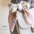 ゴールドチェーン×りぼんプリントシルクスカーフ 【fomites フォミテス】 tocco closet(トッコクローゼット) Collection