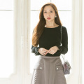 【Lily Lulu】Frill See-throughl Sleeve Knit