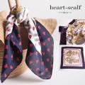ハート柄スカーフ  5月23日再販決定 ☆【heart-scalf】 tocco closet (トッコクローゼット) Collection
