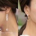 ハートモチーフアシンメトリーピアス 【hm-earrings】 tocco closet (トッコクローゼット) Collection