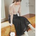 美ラインに魅了される 飾り釦付きフラワーレースマーメイドスカート12月11日(金)再販決定☆【jelies ジェリース】tocco closet(トッコクローゼット)