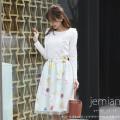 チュール重ねビビットフラワープリントスカート 【jemian ジェミアン】 tocco closet (トッコクローゼット) Collection