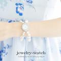 クリスタルビジューセッティングジュエリーウォッチ  7月19日再販決定☆【jewelry-watch】 tocco closet (トッコクローゼット) Collection