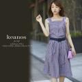 ビスチェトップス×ベルテッドスカートのチェックセットアップ 【keanos ケアノス】 tocco closet(トッコクローゼット) Collection  《Check Fair》