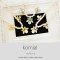 エレガントビジュー付パールネックレス 【komial コミアル】 tocco closet (トッコクローゼット) collection