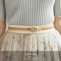 パール×ビジュー付きゴムベルト【lafane ラファン】tocco closet(トッコクローゼット) Collection