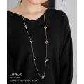 フラワーモチーフクリアビジューネックレス【lanoe ラノーエ】tocco closet(トッコクローゼット) Collection