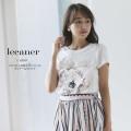 パリジェンヌなスパンコールディテールTシャツ 6月14日再販決定 ☆  【lecaner リカネル】 tocco closet (トッコクローゼット) Collection ※オンライン限定販売