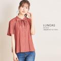 りぼん付きパウダーサテンブラウス【lunoas ルノアス】tocco closet(トッコクローゼット) Collection