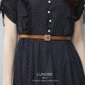 クリアビジュー付きフェイクレザーベルト 6月30日(日)オフィシャルサイト限定再販☆ 【lunose ルノーセ】tocco closet (トッコクローゼット) Collection