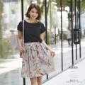 彩色フラワーウエストギャザースカート 【nallen ネイレン】 tocco closet(トッコクロゼット) Collection