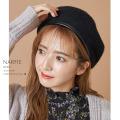 フェイクレザーパイピングフェルトベレー帽【narfie ナーフィー】 tocco closet(トッコクローゼット)