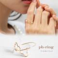 パールつきハートリング 【ph-ring】 tocco closet (トッコクローゼット) Collection