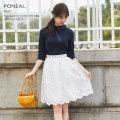 チュールフラワーエンブロイダリー重ねドットフレアスカート 【poneal ポネール】 tocco closet(トッコクローゼット) Collection
