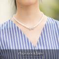 リボンビジューつきパールネックレス 【rbp-necklace】 tocco closet(トッコクローゼット) Collection