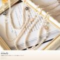 幸運呼び込む♪お花×パールの2連ネックレス 【romafy ロマフィー】 tocco closet(トッコクロゼット) Collection Ray10月号P158(06のコーディネート)にて白石麻衣さんはベージュ使用