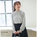 フラワープリントフリルブラウス【ropone ロポーネ】tocco closet(トッコクローゼット) Collection
