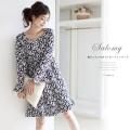 胸元リボン付きジャガードワンピース 2013 tocco Room Wear Collection☆ 【salomy サロミー】