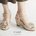 スエード調フリルコルクウェッジサンダル 【sf-sandals】 tocco closet(トッコクローゼト) Collection