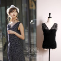 リッチレースパットつきタンクトップ 【shella シェラ】 tocco closet (トッコクローゼット) collection