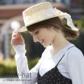 レースりぼんつきストローハット 【straw-hat】 tocco closet (トッコクローゼット) collection