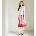 【Lily Lulu】 Tricolore Gergette Skirt