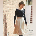 裾パール付き2WAYウエストりぼんフレアスカート 【tiesar ティサー】 tocco closet(トッコクローゼット) Collection