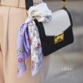 クリスタルビジューモチーフプリントシルクスカーフ 【vifane ヴィファン】 tocco closet(トッコクローゼット) Collection 泉里香さんはパープル使用