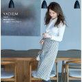 絶妙丈で使いやすい!パール釦ツイードラップスカート 【yadiem ヤディム】  美香さんはサックス着用 ≪tocco closet luxe≫