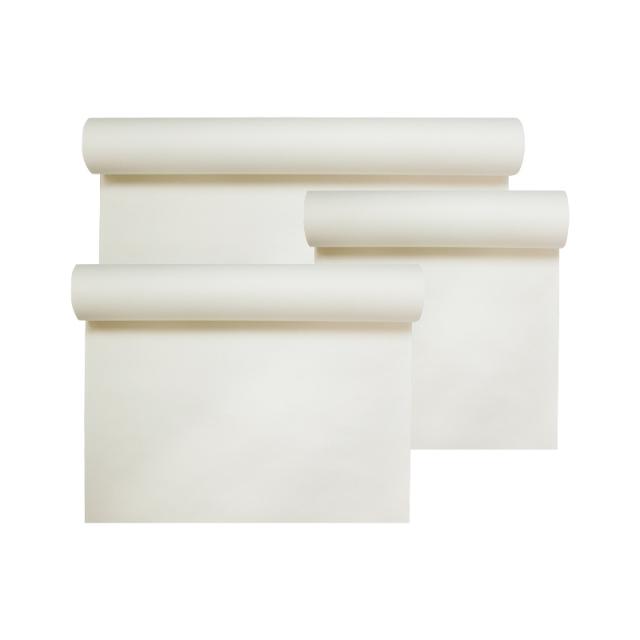 水墨画 絹本 白