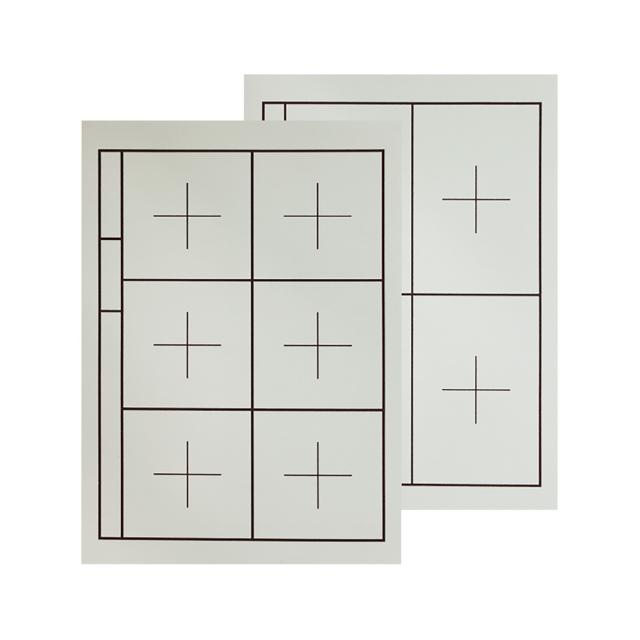 下敷き 樹脂ラシャ 両面罫入 名枠あり (半紙用) OE52-1