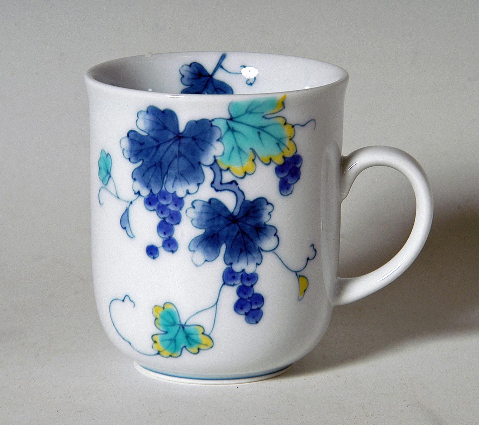 マグカップ−色絵葡萄