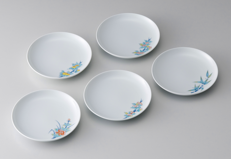16cm和皿−鍋島五種絵変り