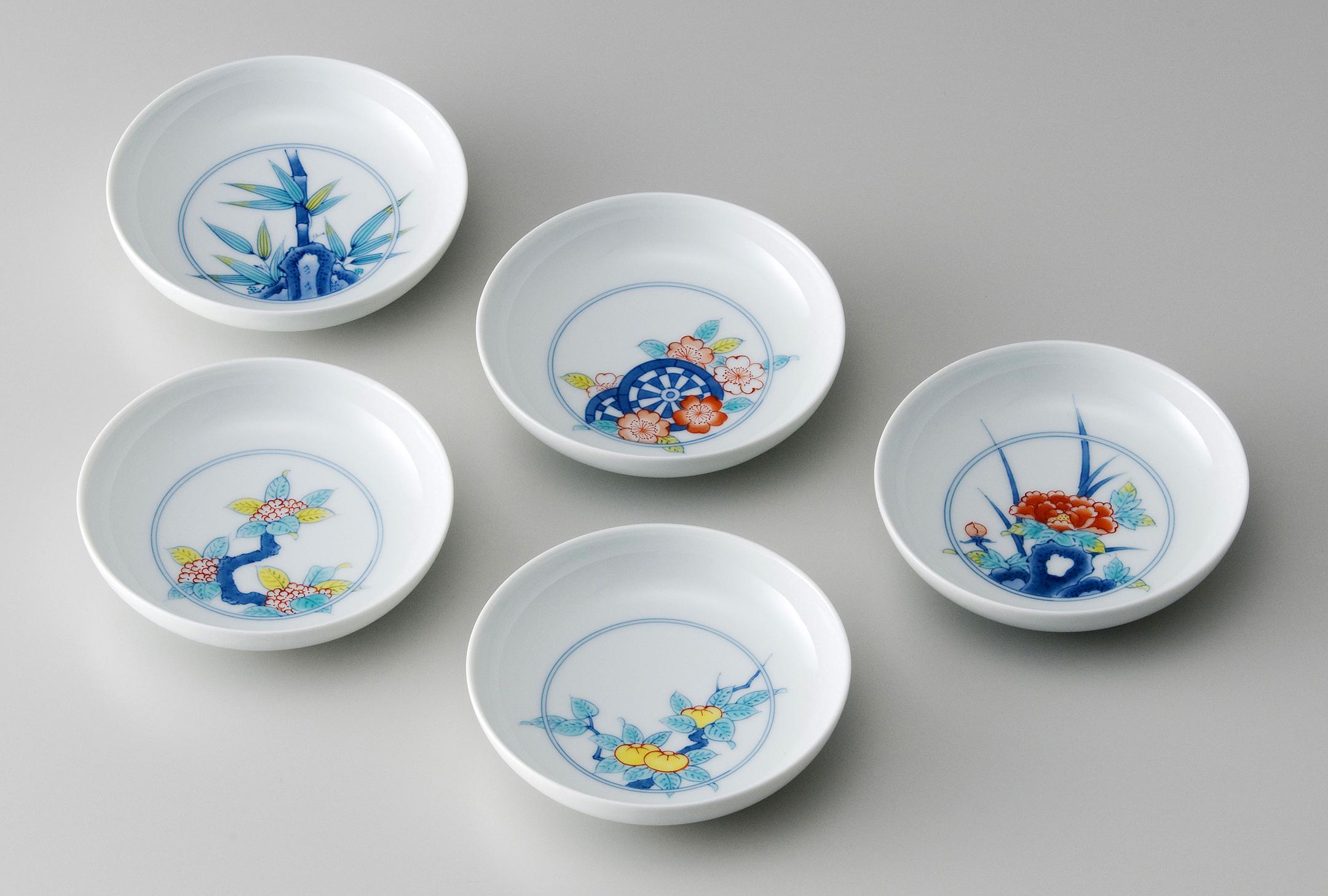 11cm深皿−鍋島五種絵変り