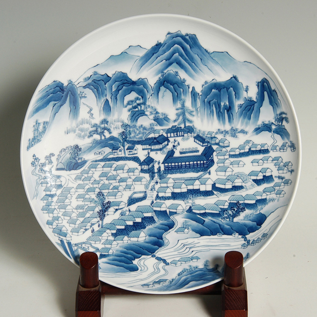 尺皿—鍋島藩窯図