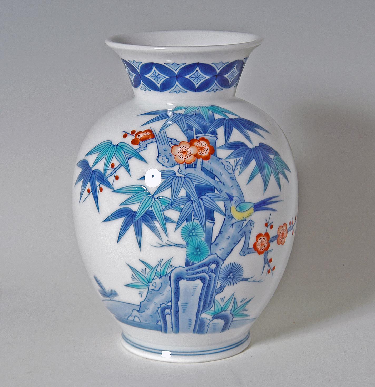 胴花瓶−松竹梅
