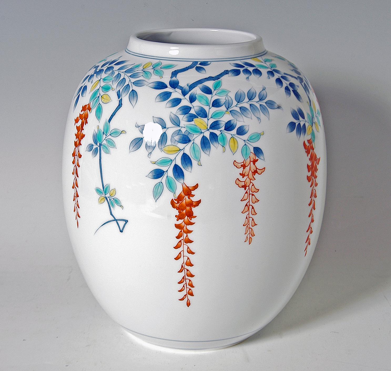 提灯花瓶-色絵藤