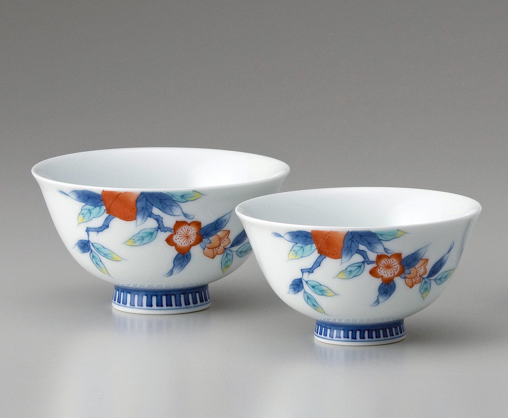 夫婦茶碗−桃文