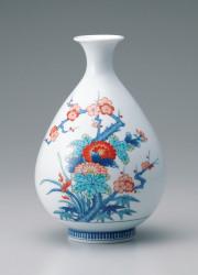 徳利形花瓶−四君子