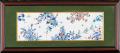 七寸陶額(3枚組) 色絵四季草花