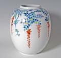 提灯花瓶−色絵藤
