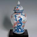 六角壺―花鳥文