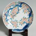 七寸高台皿―桜樹文